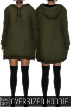 Oversized Hoodie for The Sims 4