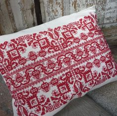 Hand embroidered in cotton in fine cross stitch Traditoonal Hungarian folk design Embroidered by a master embroiderer accredited by the Association