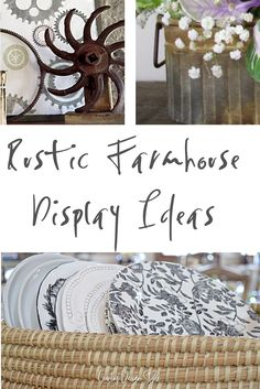 Rustic farmhouse display ideas and rustic furniture finishes.en furniture is because it is t. Rustic Country Furniture, Rustic Farmhouse, Farmhouse Style, Farmhouse Ideas, Cottage Style, Country Style, Rustic Italian, Italian Home, Types Of Furniture