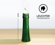 Kerzenständer - LEUCHTER / 12CM / TANNENGRÜN (Kerzenständer) - ein Designerstück von Glaeserne_Transparenz bei DaWanda