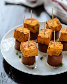 Mayonnaise Covered Sweet Potato Bites! Delicious appetizer from miraclerecipes.com