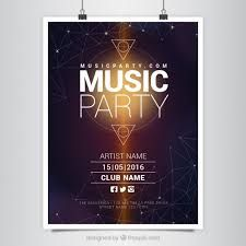 Modern music party poster with geometric shapes Free Vector Graphic Design Services, Graphic Design Posters, Banner Design, Flyer Design, Flyer Inspiration, Work Inspiration, Award Poster, Banners, Instagram Banner