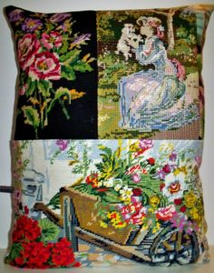 UNIQUE Large French Vintage Needlepoint Tapestry by Retrocollects, £40.00