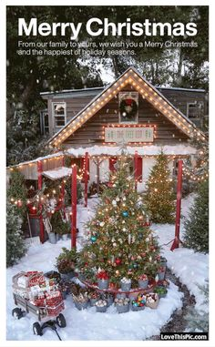 Merry Christmas And Happy Holidays From Our Home To Yours christmas merry christmas christmas gifs happy holidays christmas quotes christmas gif quotes Christmas Tree Gif, Magical Christmas, Christmas Scenes, Christmas Past, Country Christmas, Outdoor Christmas, Christmas Pictures, Christmas Wishes, Beautiful Christmas