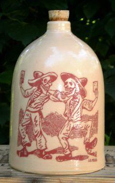 Drinking Buddies moonshine jug by MoonshineJug on Etsy, $34.00
