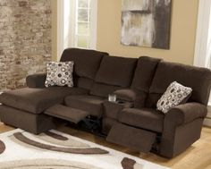 Alessandro 6Piece Leather Sectional with Chaise 2 Power Motion