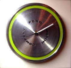 Vintage 1970s Ford Torino Hubcap Clock by TimNKatiesShop on Etsy, $25.00