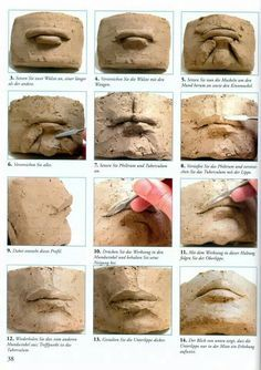 Ceramics how to: create a realistic mouth with clay.