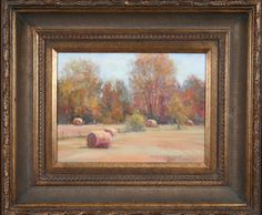Haybales. Oil. 9x12 ©Dot Courson