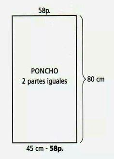 Dimensions poncho tricot
