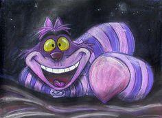 Cheshire Cat Art Print by Andrew Fling - Alice In Wonderland⏱ - Chalk Art Chalk Pastel Art, Oil Pastel Art, Chalk Pastels, Cheshire Cat Drawing, Chesire Cat, Cheshire Cat Zeichnung, Cheshire Cat Alice In Wonderland, Chalk Design, Sidewalk Chalk Art