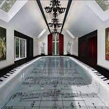 music note pool - Google Search Cool Swimming Pools, Cool Pools, Indoor Swimming, Ray Charles, Sound Room, Music Decor, Music Gifts, Music Notes, Music Is Life