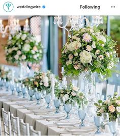 Grey tablecloth and glue goblets