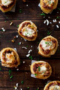 Ooeey gooey cheese and delicious sloppy joes stuffed in crisp and flaky puff pastry and topped with more cheese.