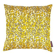 Garland Silk Cushion, Turmeric, Storm & Lemon
