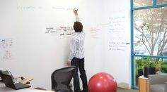 IDEA PAINT ---  turns anything you paint it on into a dry erase surface – basically a giant whiteboard.