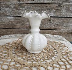 Milk Glass Vase Fenton Vintage Vase Vintage Milk Glass Milk | Etsy Etsy Vintage, Vintage Shops, Vintage Items, Italian Coffee Maker, Shed Interior, Milk Glass Vase, Vintage Vases, Fenton Glass, French Country Decorating