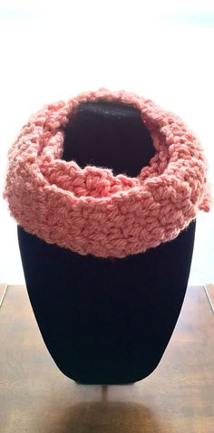 Women's Crochet Chunky Infinity Scarf Cowl in by TheFancyStitcher