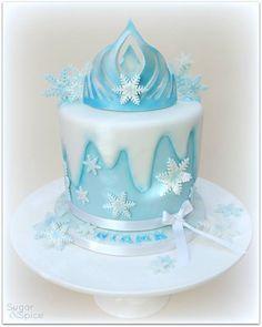 Frozen Elsa crown cake