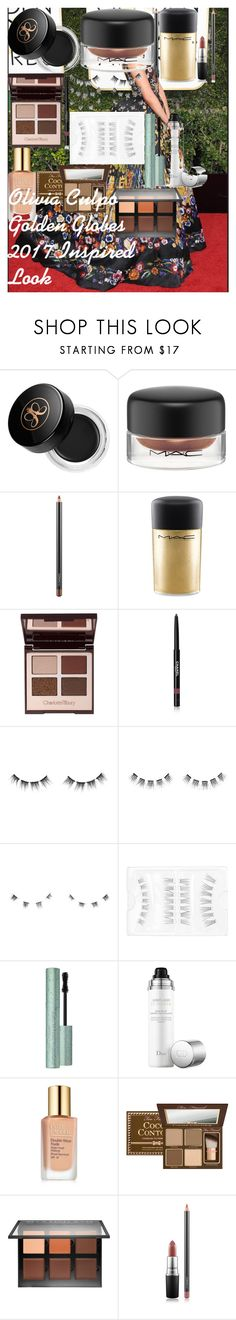 """Olivia Culpo Golden Globes 2017 Inspired Look"" by oroartye-1 on Polyvore featuring beauty, Anastasia Beverly Hills, MAC Cosmetics, Charlotte Tilbury, Chanel, shu uemura, Too Faced Cosmetics, Christian Dior and Estée Lauder"