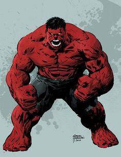 Red Hulk by Gabriel Hardman . Marvel Comics Art, Hulk Marvel, Marvel Heroes, Hulk Avengers, Marvel Comic Character, Comic Book Characters, Marvel Characters, Comic Books, Red Hulk