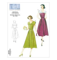 Out of print paper sewing pattern to make a 1950s dress with sailor collar. Love the 1950s? Find more 50s vintage reproductions and original 50s vintage here. Condition This is a contemporary reissue