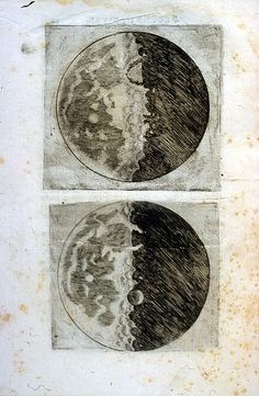 Galileo used a telescope to view the moons and this was just one of the many phases he was able to view with his telescope.