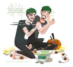 Aftercare by almond-goddess on DeviantArt<<<<Dammit jack you should've known knives are dangerous