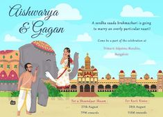 Cute And Trendy E Invitation Designs For The Intimate Weddings Illustrated Wedding Invitations, Indian Wedding Invitation Cards, Wedding Invitation Video, Funny Wedding Invitations, Wedding Cards, Invites, Wedding Stuff, Wedding Ideas, Wedding Card Design Indian