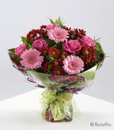 'Alice' beautiful rich reds and pinks. Arrangement from Florist pro. (I do not own this image)