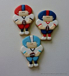 Football player hand decorated sugar cookies (#2468)