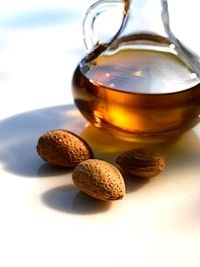 sweet almond oil - can be used on hair, under eye circles or just as a simple pm moisturizer