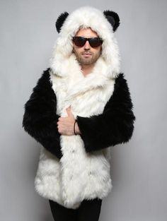 f80f524ca 16 Best Panda faux fur hooded jackets and spirit hoods images in ...