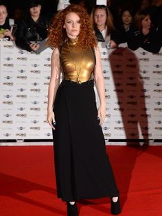 Posing up a storm: Jess Glynne (L) and Lizzie Cundy, wearing a Nina Nausdral dress, (R) both seemed to be enjoying posing for the photographers on the red carpet Jess Glynne, I Love Redheads, Faux Leather Dress, Nicole Scherzinger, Lingerie Dress, Just Girl Things, Boy Hairstyles, Female Singers, Skin Tight