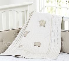 One baby will have this bedding. I love the Sweet Lambie Nursery Bedding on potterybarnkids.com