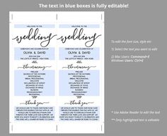 Pin By Danielle George On Wedding    Wedding Program