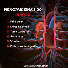 Os principais sinais do infarto:  - Falta de ar - Dores no peito - Tosse constante - Ansiedade -Vômitos - Problemas de digestão   Fique atento(a)!  #infarto #coracao #heart #health #saude #coracaoforte Medical Students, Nursing Students, Medical Memes, Study Organization, Medical Anatomy, Student Motivation, Student Studying, Med School, Health Advice