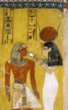 Thutmose IV Receiving Life from Hathor