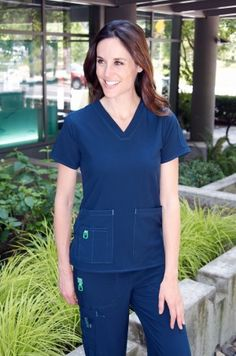 If you equate Carhartt with rugged construction clothes, you'll be pleasantly surprised by Carhartt Scrubs. Carhartt womens scrubs are made from a high tech, easy care, moisture wicking fabric. Their cross flex v-neck womens scrub top has beauty and brawn! The clean lines in this scrub top create a feminine silhouette. The triple needle stitching …