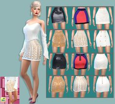 Do you speak Balmain? I needed some skirts for my sims girls and since I like to make different type of clothing,I made these 6 skirts inspired by Balmain ^_^.Don't expect perfection,they do have some...
