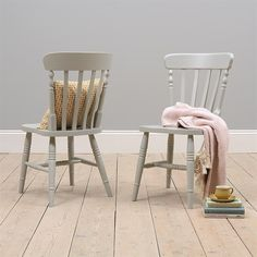 Grey Painted Farmhouse Style Dining Chair from The Cotswold Company. Free Delivery and Free Returns