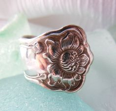 Antique Spoon Ring    Size 8 by WoodsEdgeJewelry on Etsy