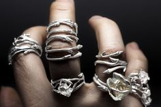 Twine and Twig.  Silver Stackers. - RedSofa