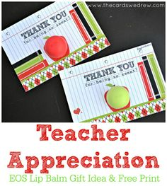 Teacher Appreciation Gift Idea with Free Print from @Thecardswedrew