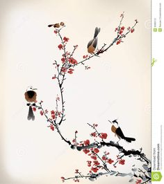 japanese cherry blossom tree painting - Google Search