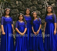 Indian Bridesmaid Dresses, Bridesmaid Saree, Bridesmaid Outfit, Designer Flower Girl Dresses, Wedding Flower Girl Dresses, Bridal Dresses, Mom And Baby Dresses, Dresses Kids Girl, Girls