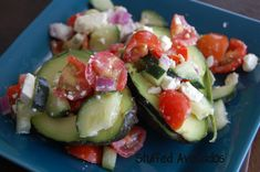 Stuffed Avocados - Low Carb Paleo Style Eating