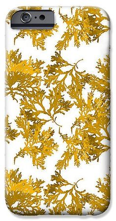 Yellow Gold Seaweed Art Delesseria Alata IPhone 6s Case for Sale by Christina Rollo.  Protect your iPhone 6s with an impact-resistant, slim-profile, hard-shell case.  The image is printed directly onto the case and wrapped around the edges for a beautiful presentation.  Simply snap the case onto your iPhone 6s for instant protection and direct access to all of the phone's features!