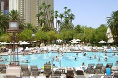 One of the pools at the MGM Grand Hotel & Casino in Las Vegas.