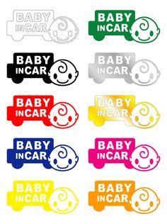 【楽天市場】baby in car ステッカー【メール便限定送料無料!店当店人気商品!】赤ちゃんが乗っています【出産祝いの贈り物にも】赤ちゃんシール/ベビーステッカー/車/ベビーインカーステッカー/baby in car/かわいい/通販/あかちゃん/カー用品/画像/セーフティ/グッズ/おしゃれ/シール:ステッカーショップHaru